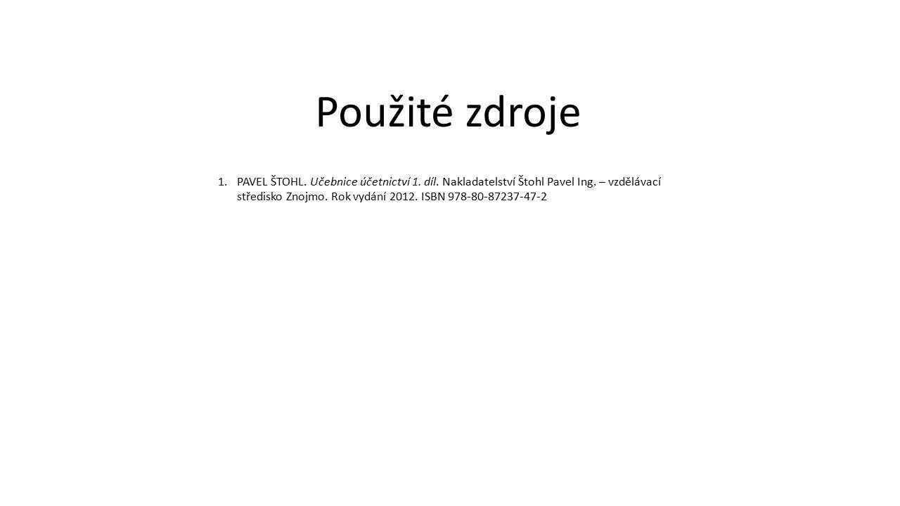 1.PAVEL ŠTOHL.Učebnice účetnictví 1. díl. Nakladatelství Štohl Pavel Ing.
