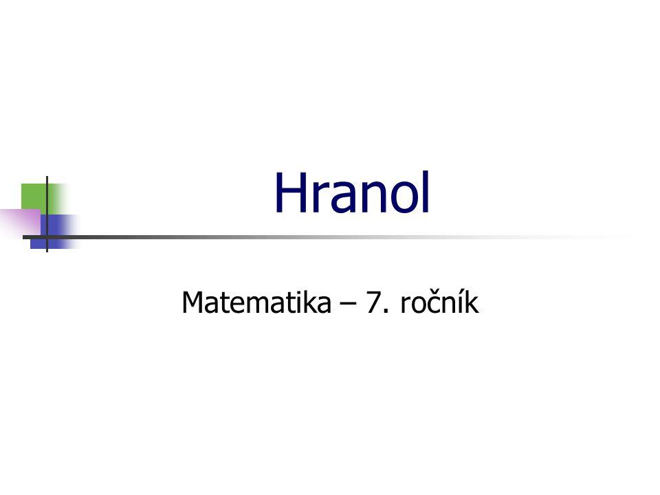 Hranol Matematika – 7. ročník