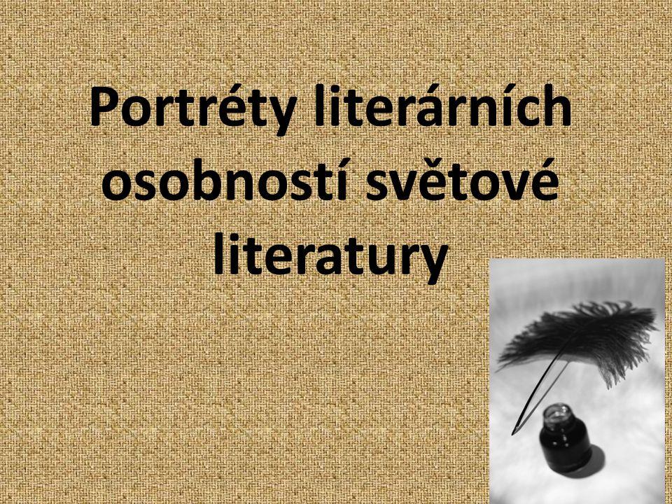 Portréty literárních osobností světové literatury