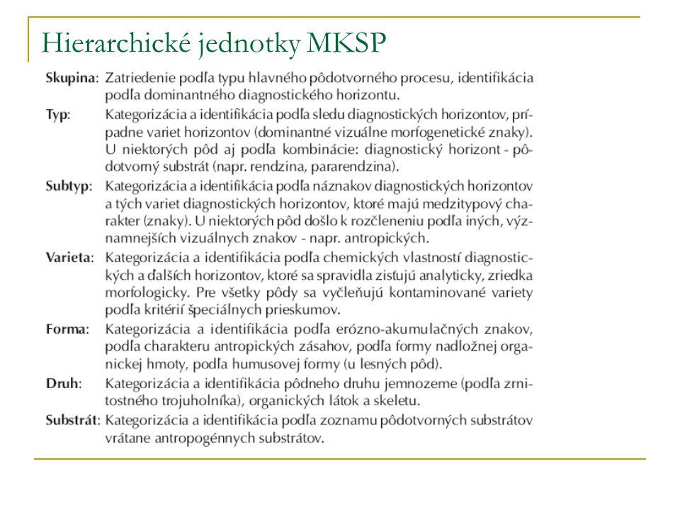 Hierarchické jednotky MKSP