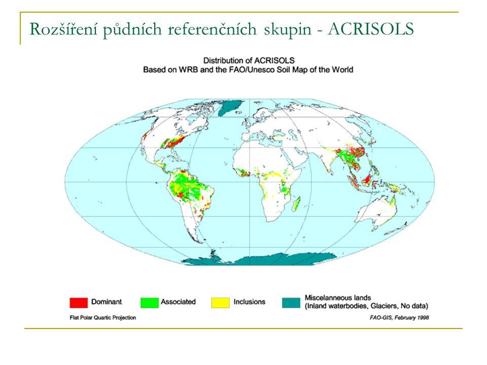Rozšíření půdních referenčních skupin - ACRISOLS
