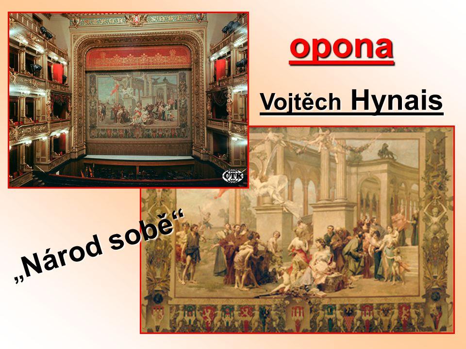 """opona opona Vojtěch Hynais """" Národ sobě"""""""