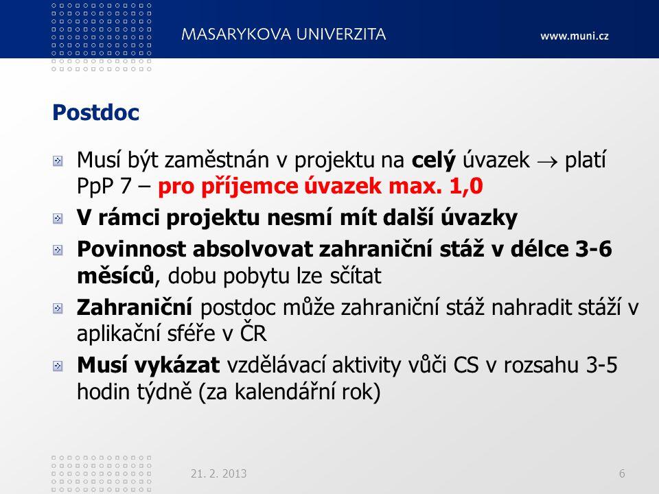 Různé Vytvoření univerzálního e-mailu (např.postdoc@muni.cz), příp.