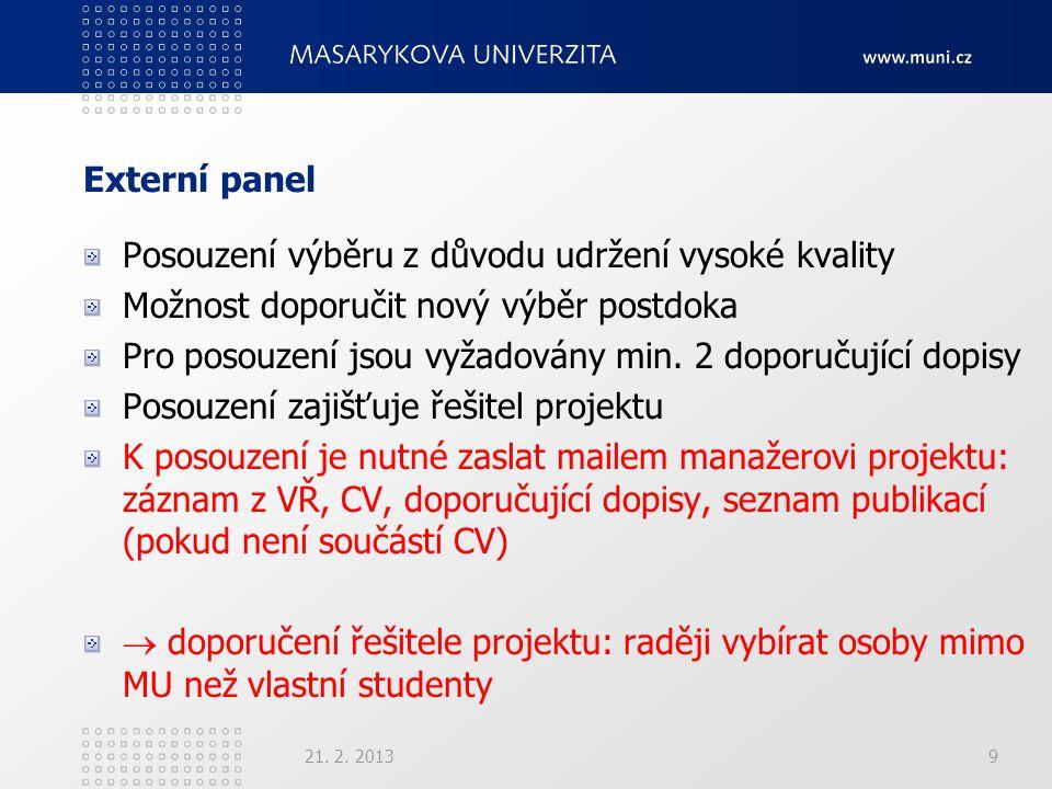 POSTDOC I. 21. 2. 201320