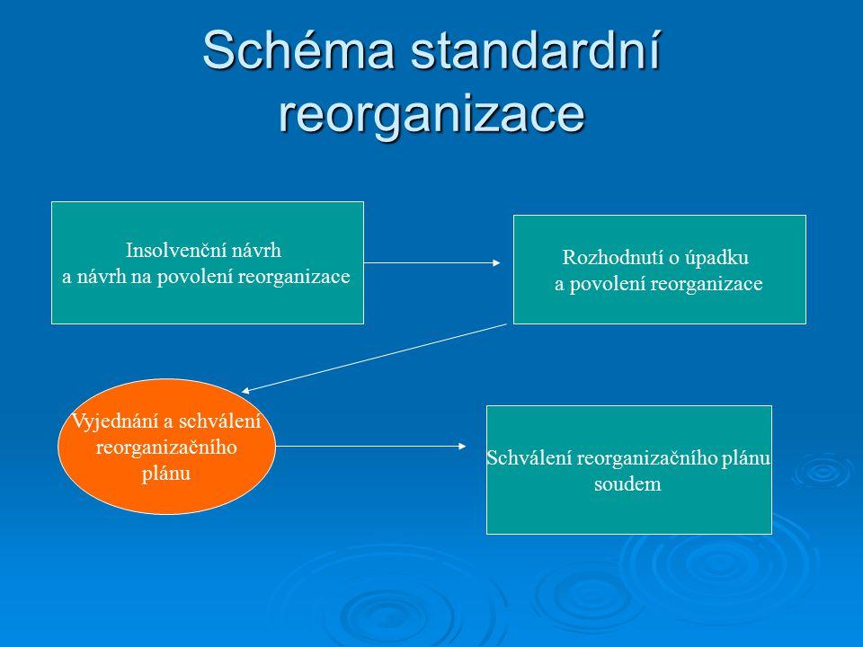 Obsah reorganizačního plánu I.