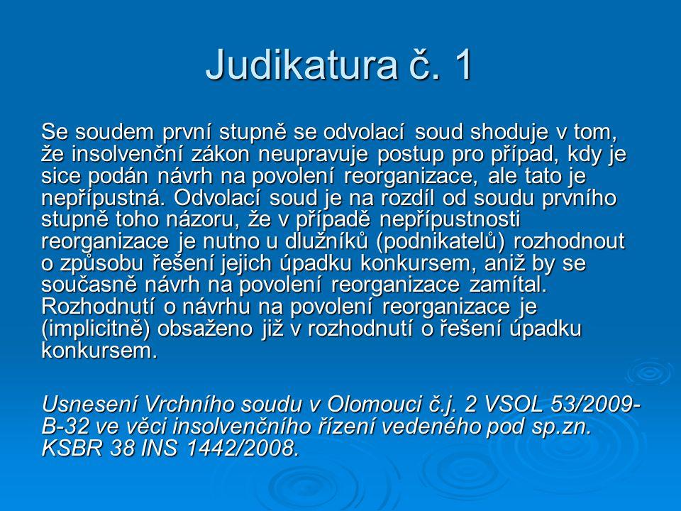Judikatura č.