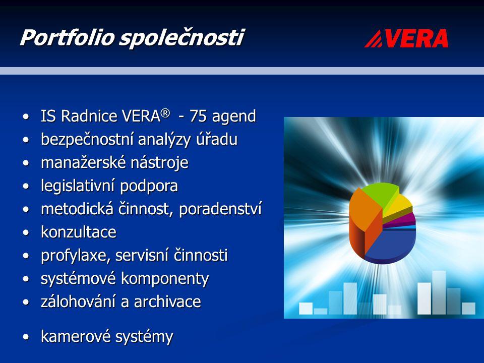 IS Radnice VERA ® - 75 agendIS Radnice VERA ® - 75 agend bezpečnostní analýzy úřadubezpečnostní analýzy úřadu manažerské nástrojemanažerské nástroje l
