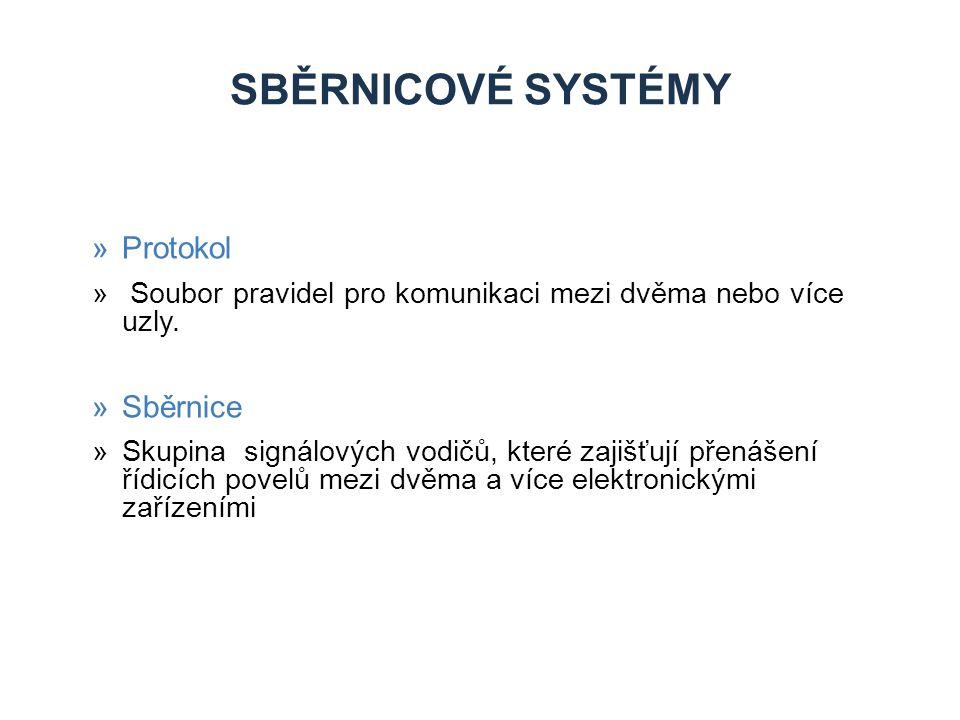 SBĚRNICOVÉ SYSTÉMY »Protokol » Soubor pravidel pro komunikaci mezi dvěma nebo více uzly.