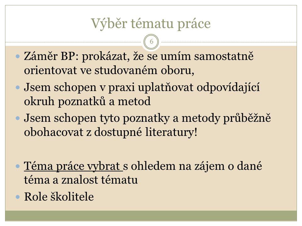 Šablona ZP 7 Metodický pokyn prorektora pro vzdělávací činnost a vnější vztahy: https://is.vsfs.cz/auth/do/6410/predpisy/531213/1509 230/metodicky_pokyn_PRVCVV_4_2012_2013_met odika_vypracovani_ZP_pro_B12_N12.pdf https://is.vsfs.cz/auth/el/6410/zima2012/B_ BSe_2/Skripta__Tichy__Netolicky_PRIPRAV A__TVORBA_A_HODNOCENI_B_A_D_PRAC I_11.3.08.pdf