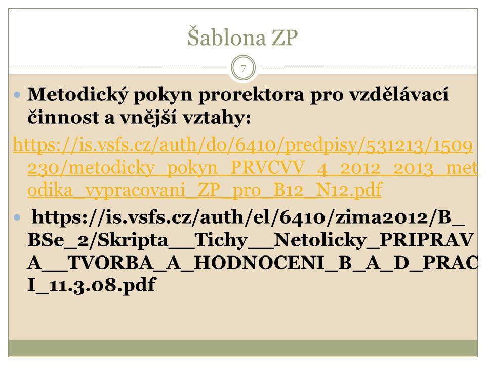 ŠABLONA ZADÁNÍ BP VIZ WORD 8