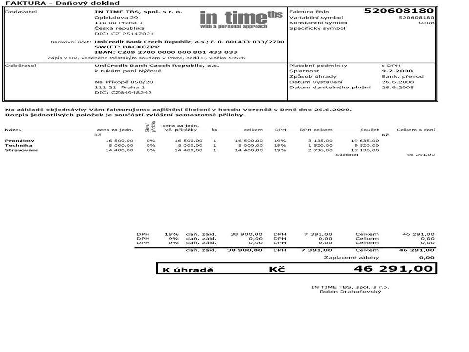 Platební dokumenty Mají úzkou souvislost s: placením financováním obchodu zajišťováním rizik Patří sem: Šeky Směnky Poštovní poukázky Příkazy k úhradě Platební karty Phonebanking GSMbanking Homebanking Internetbanking