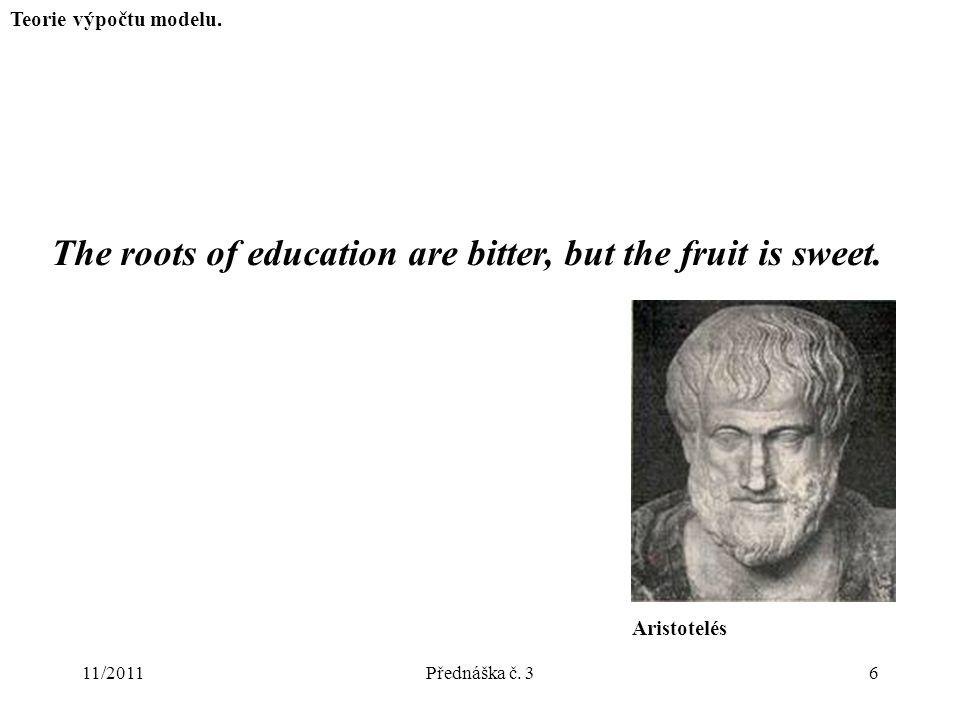 11/2011Přednáška č. 36 Teorie výpočtu modelu.