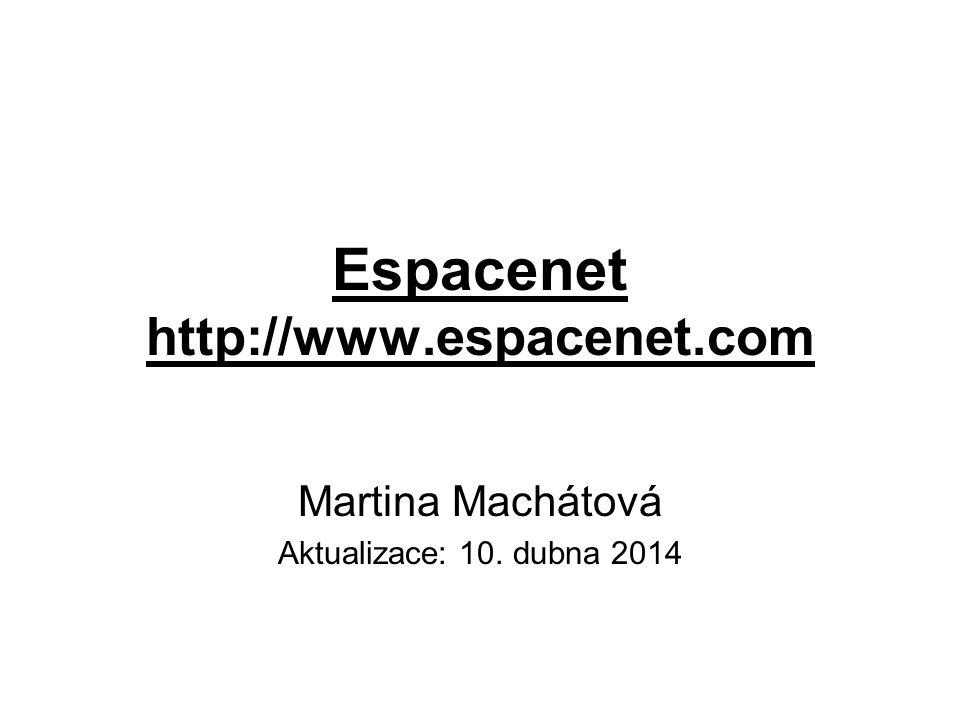 Espacenet http://www.espacenet.com Martina Machátová Aktualizace: 10. dubna 2014
