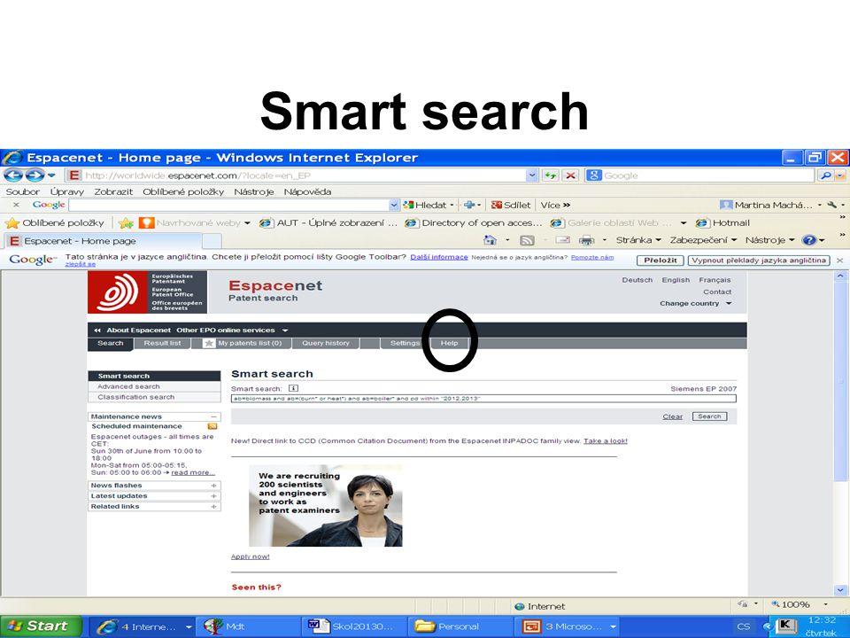 Znak se zkopíruje do pokročilé vyhledávací masky.