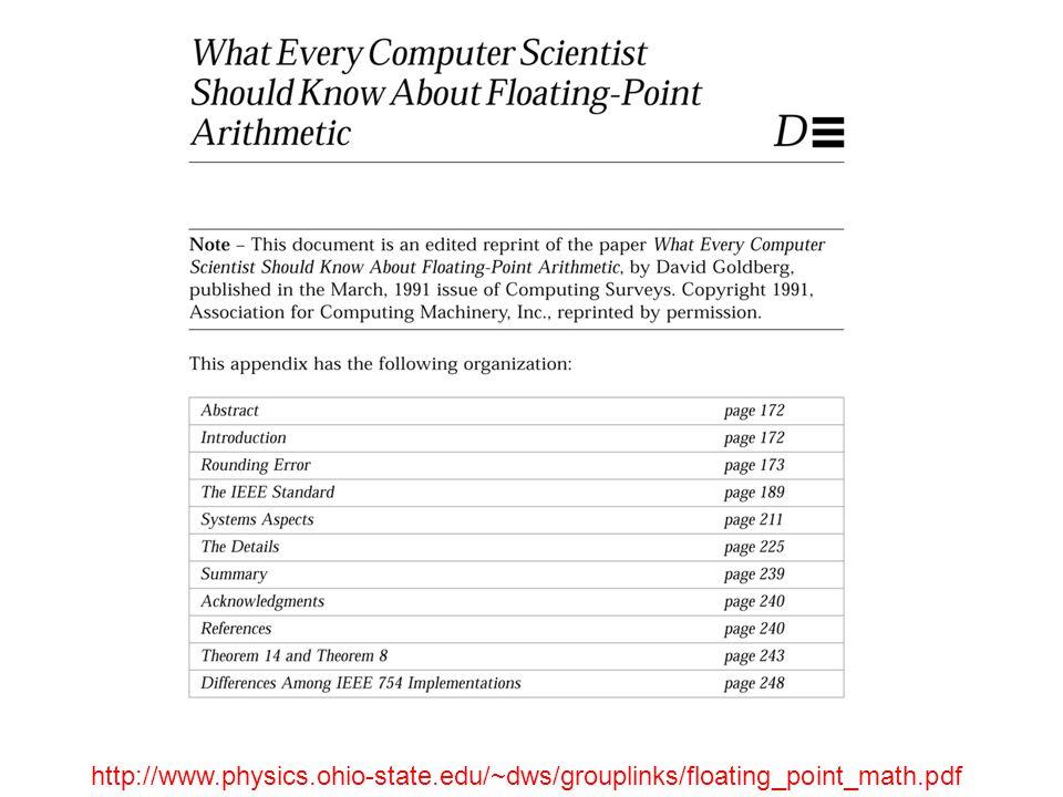 http://www.physics.ohio-state.edu/~dws/grouplinks/floating_point_math.pdf