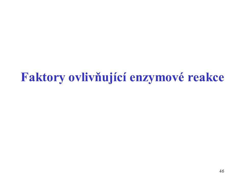 46 Faktory ovlivňující enzymové reakce