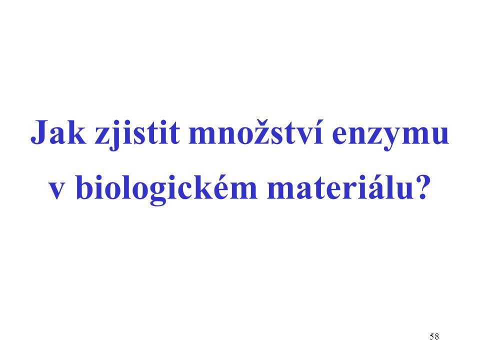 58 Jak zjistit množství enzymu v biologickém materiálu?