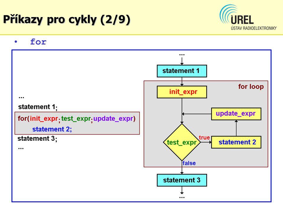 for Příkazy pro cykly (2/9)