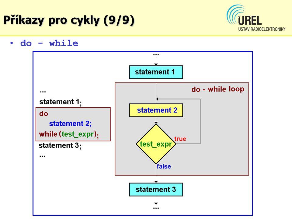 do - while Příkazy pro cykly (9/9)