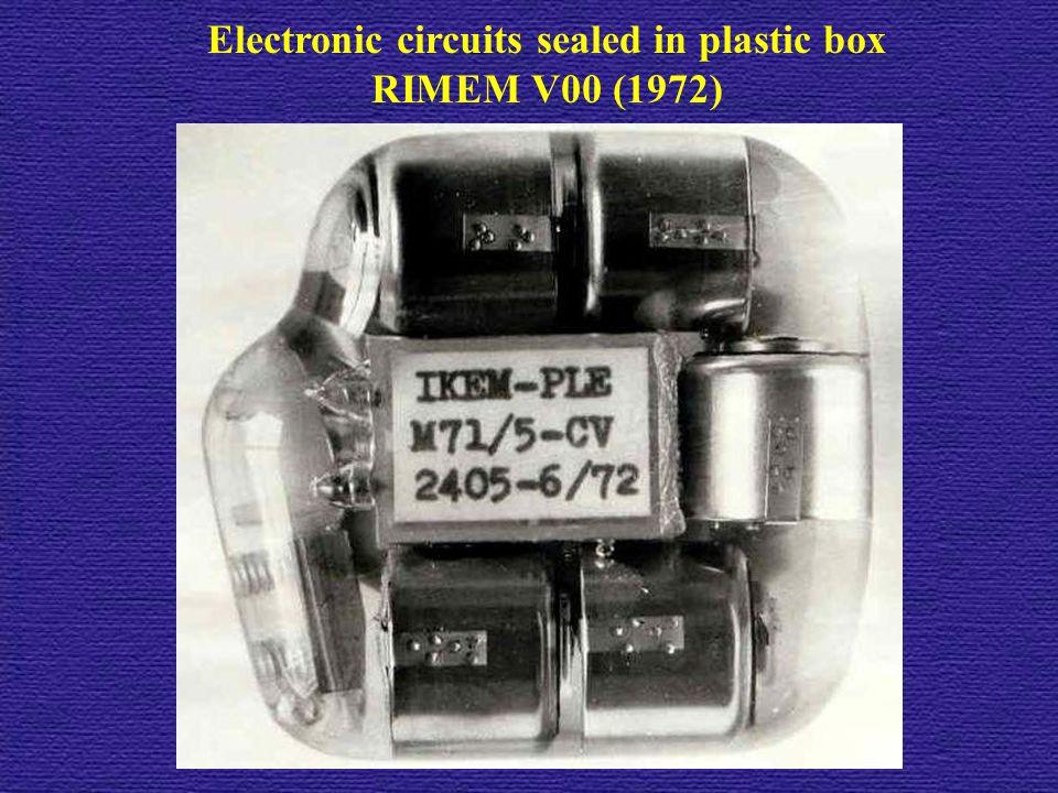 Electronic circuits sealed in plastic box RIMEM V00 (1972)