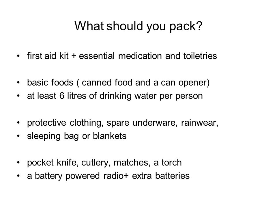 What should you pack.