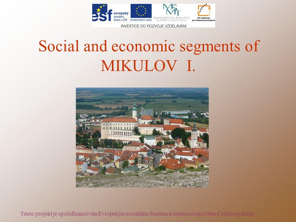 Social and economic segments of MIKULOV I.