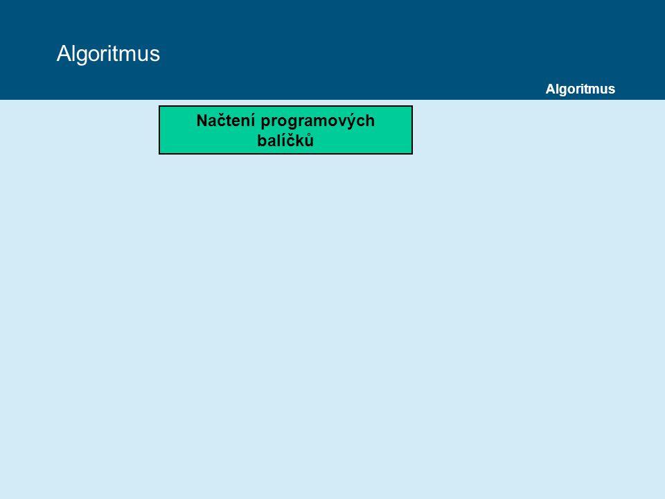 Algoritmus Načtení programových balíčků Algoritmus