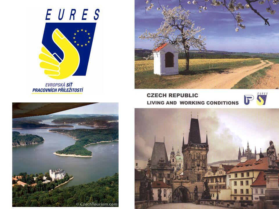 Úřad práce České republikyEURES Česká republikaEURES EU www.uradprace.cz www.eures.cz www.ec.europa.eu/eures Total area: 78 866 km² Population: 10,2 mil.