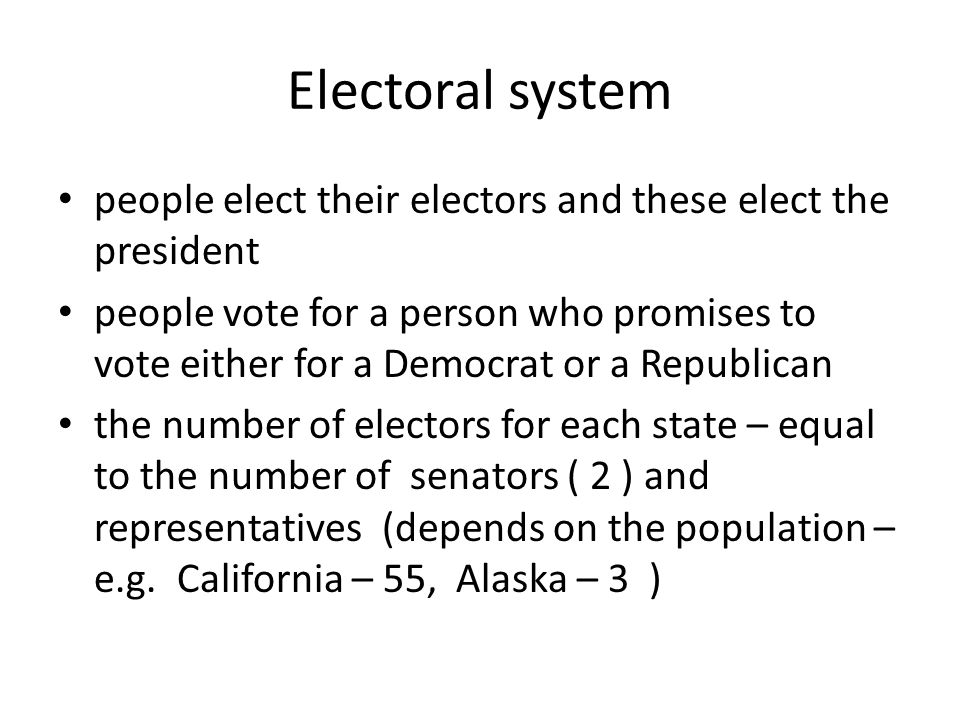 """Election Day comes on the first Tuesday after the first Monday of November most states traditionally support one party New York, California – Democrats Alabama, Texas – Republicans election is decided by """"swing states (e.g."""