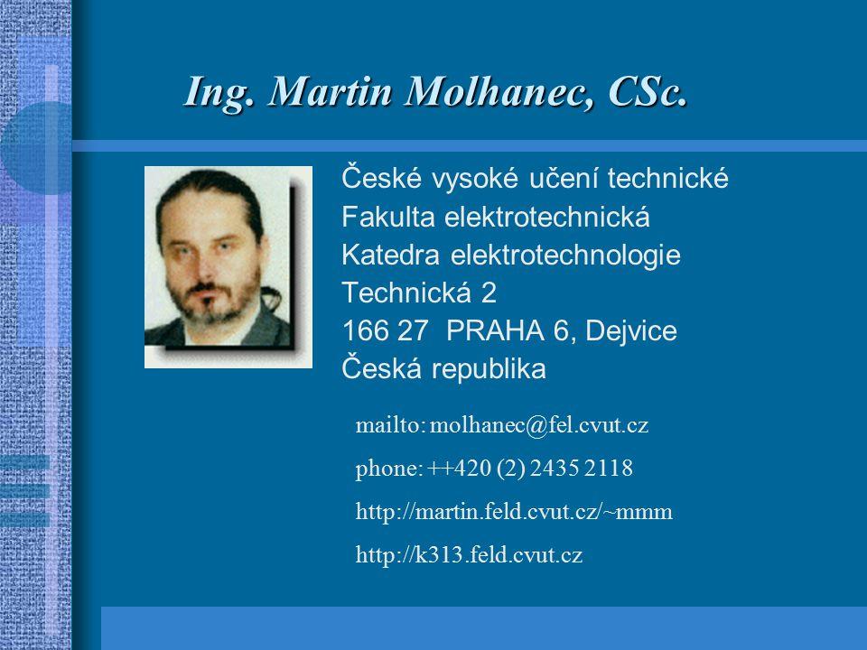 Ing.Martin Molhanec, CSc.