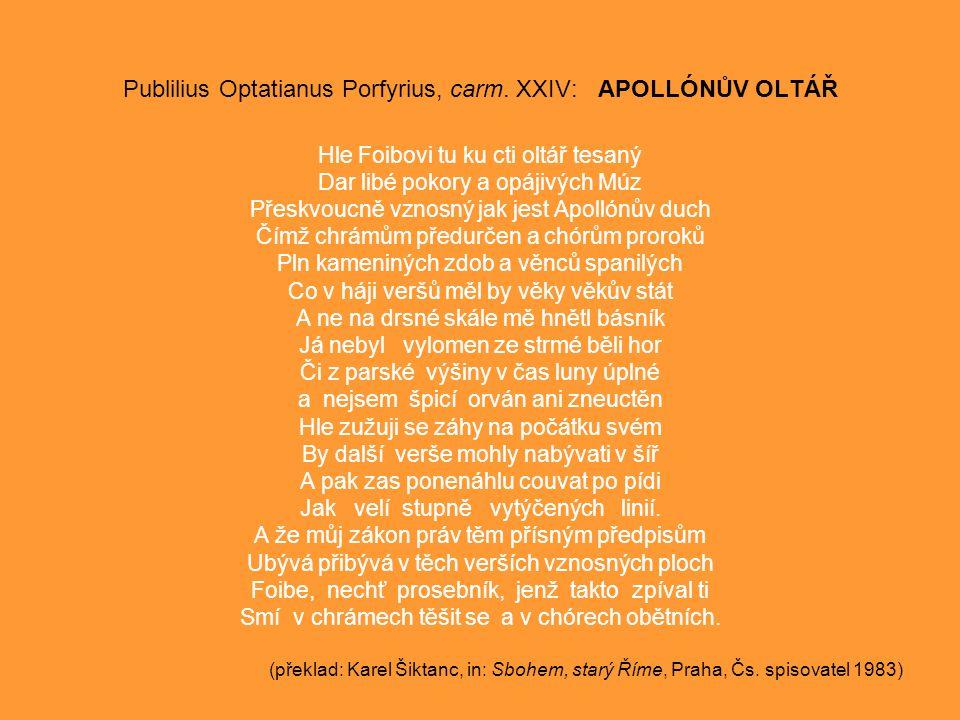Publilius Optatianus Porfyrius, carm.