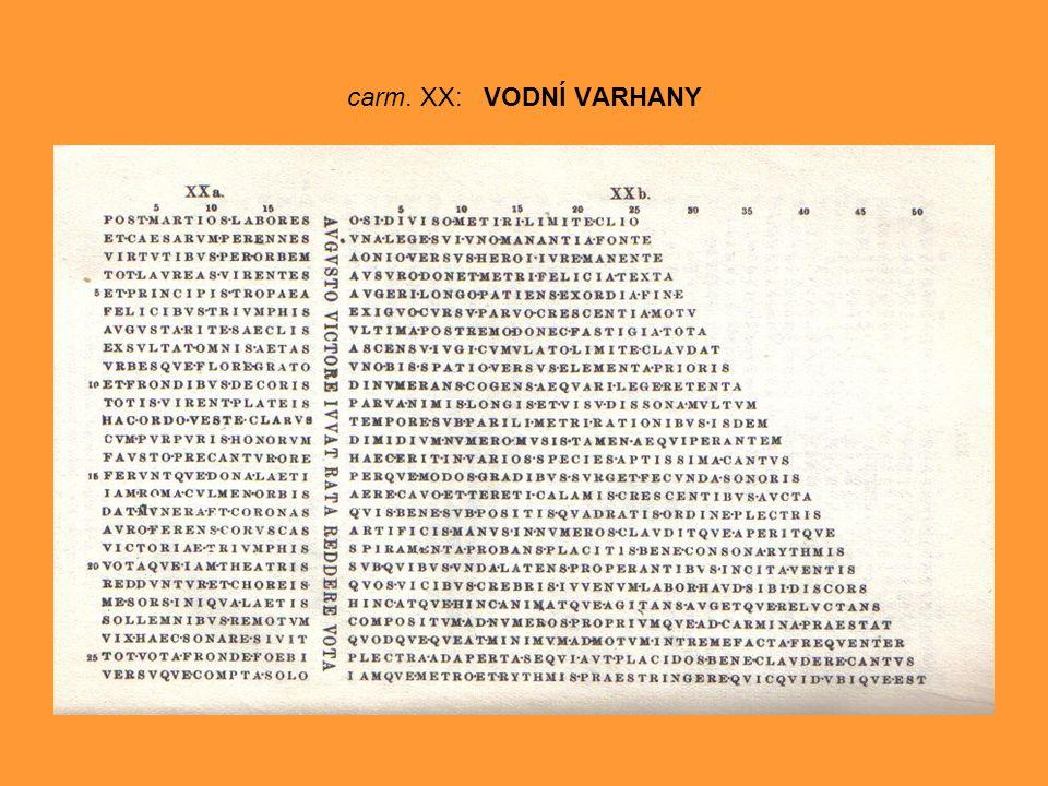 carm. XX: VODNÍ VARHANY