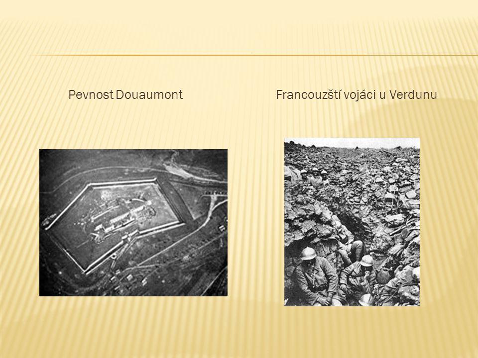 Pevnost DouaumontFrancouzští vojáci u Verdunu