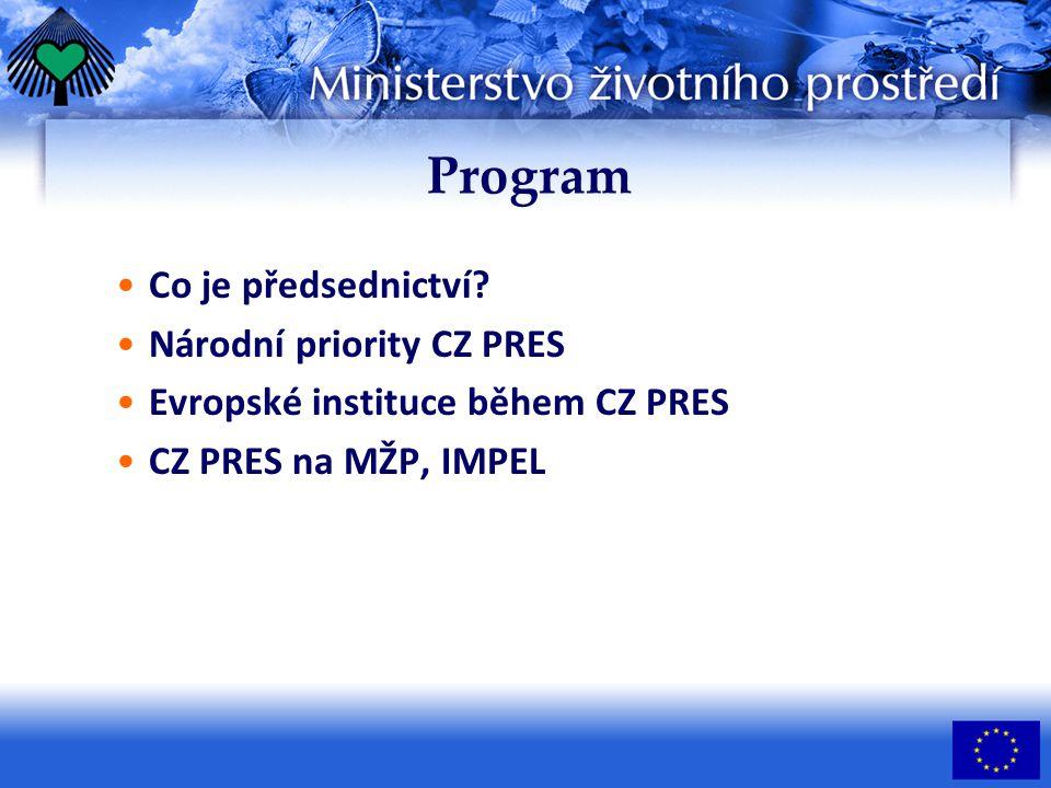 Program Co je předsednictví.