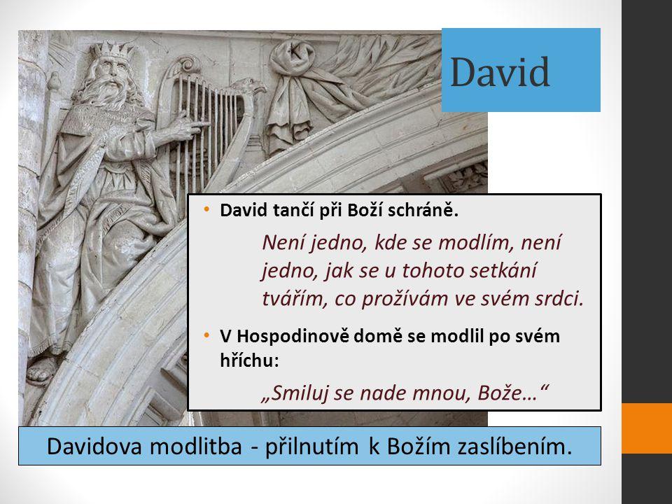 David David tančí při Boží schráně. Není jedno, kde se modlím, není jedno, jak se u tohoto setkání tvářím, co prožívám ve svém srdci. V Hospodinově do