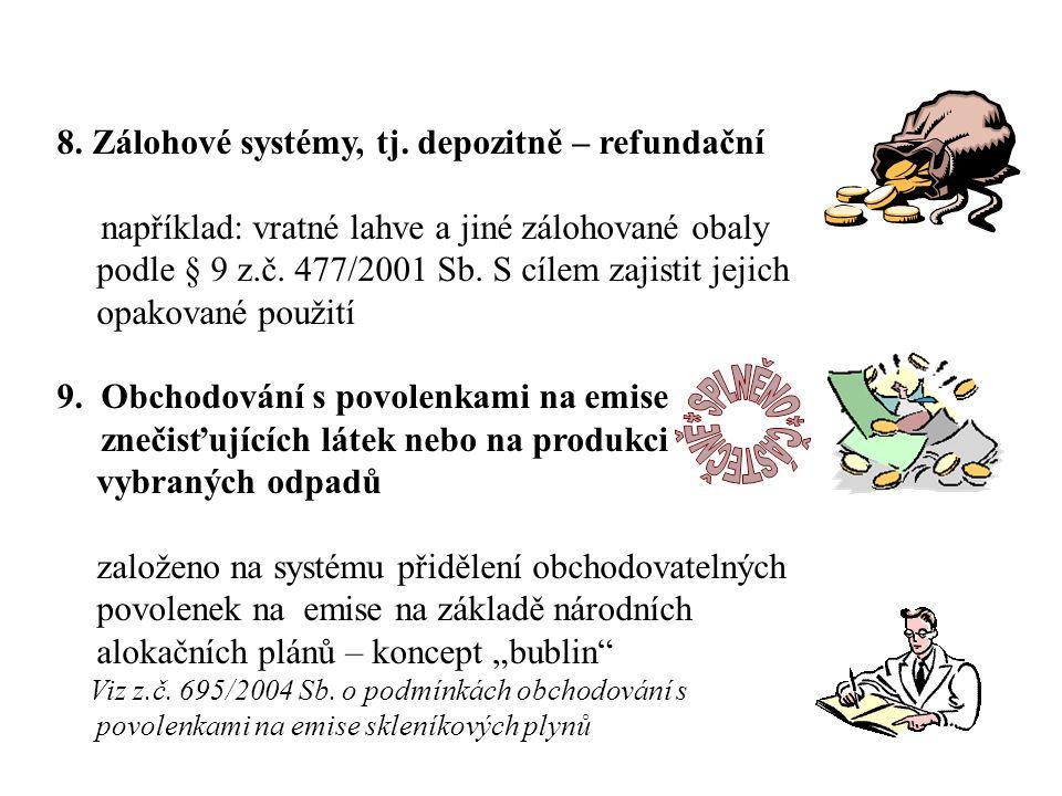 8. Zálohové systémy, tj.