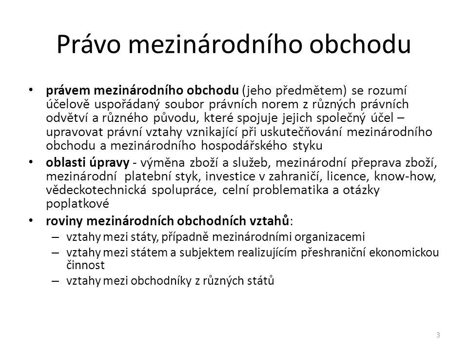 Literatura Kučera Z., Pauknerová M., Růžička K., Zunt K.: Úvod do práva mezinárodního obchodu, Vydavatelství a nakladatelství Aleš Čeněk, 2003 Rozehnalová, N.: Právo mezinárodního obchodu 1.
