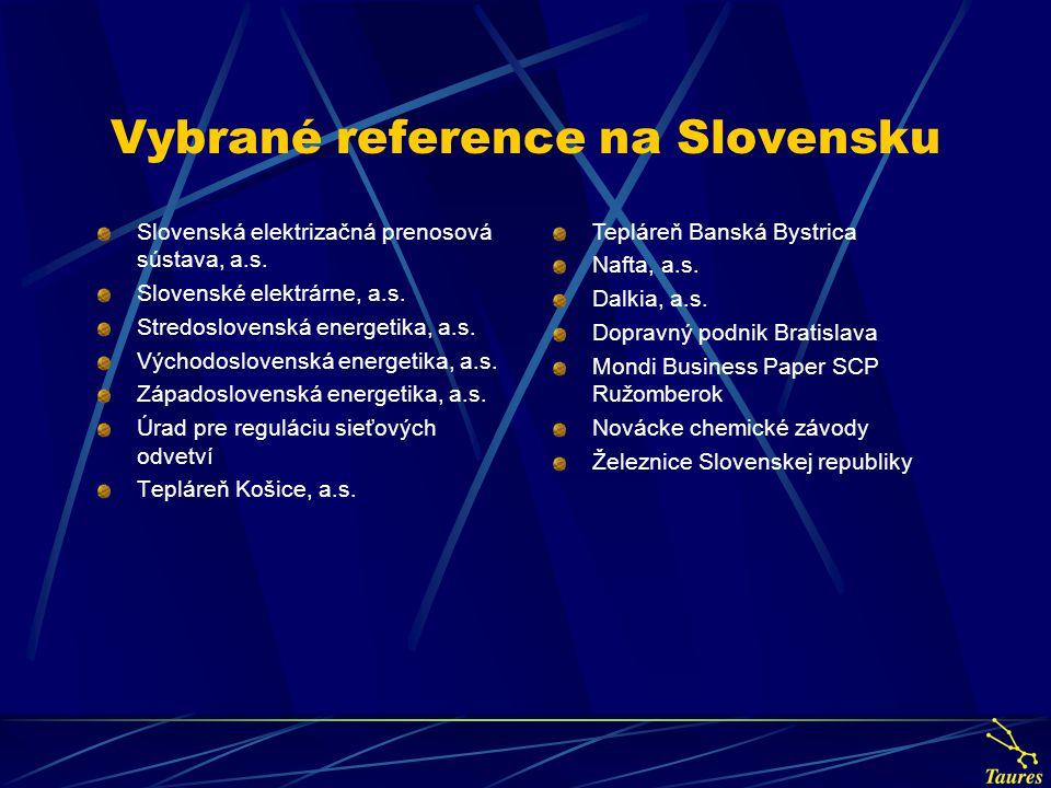 Vybrané reference na Slovensku Slovenská elektrizačná prenosová sústava, a.s.