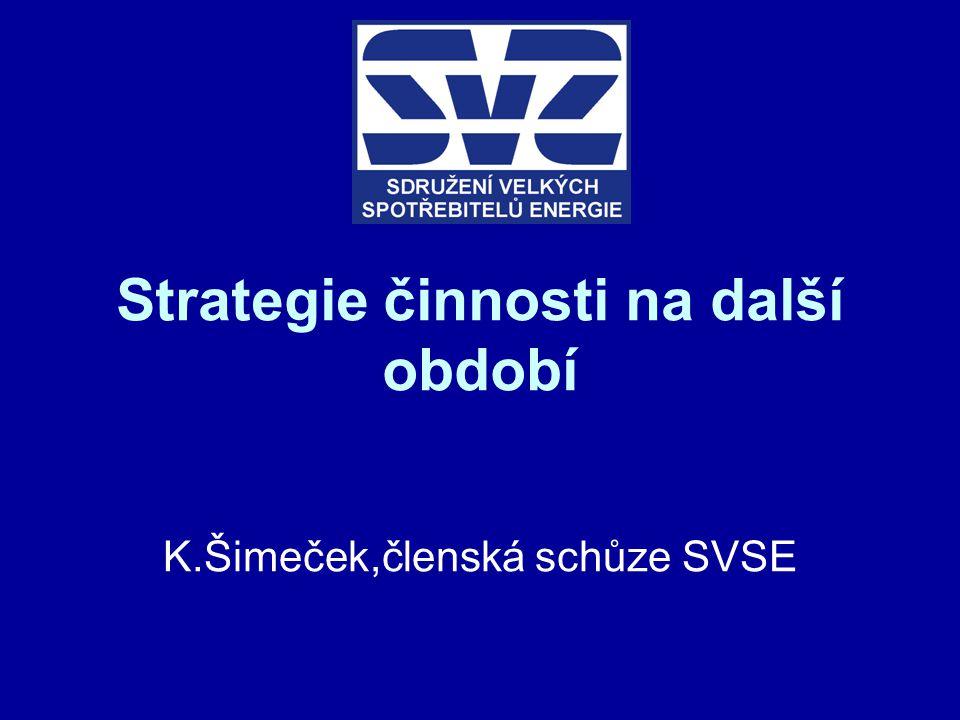 Strategie činnosti na další období K.Šimeček,členská schůze SVSE