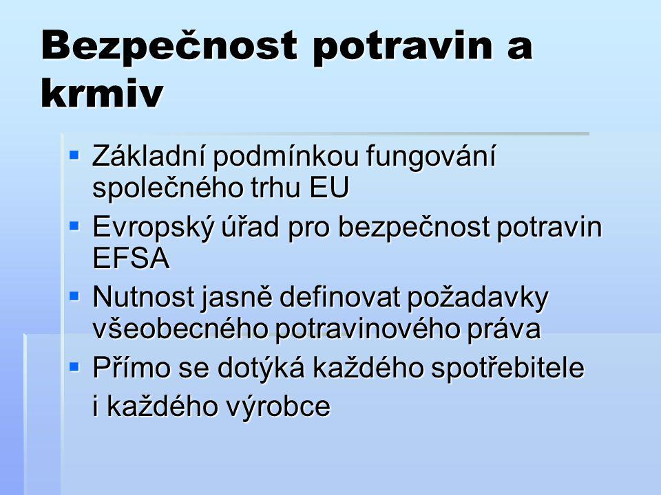 Co je to hygienický balíček. Souhrnný název pro legislativu EU  Nařízení č.