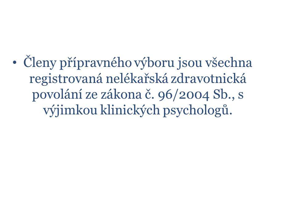 Členy přípravného výboru jsou všechna registrovaná nelékařská zdravotnická povolání ze zákona č.
