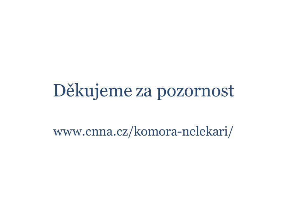 Děkujeme za pozornost www.cnna.cz/komora-nelekari/