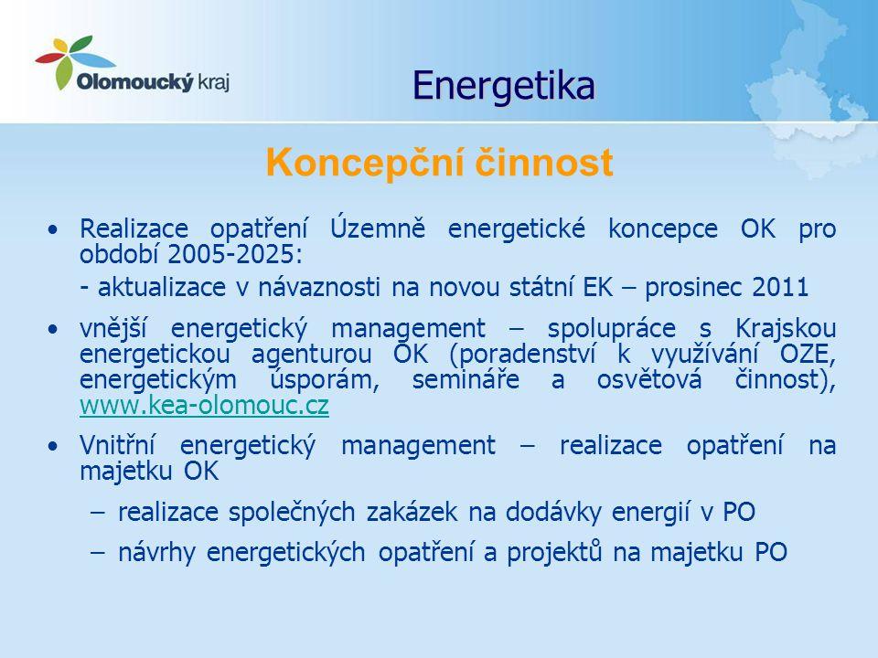 Energetika Realizace opatření Územně energetické koncepce OK pro období 2005-2025: - aktualizace v návaznosti na novou státní EK – prosinec 2011 vnějš