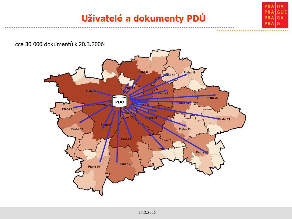 27.3.2006 Uživatelé a dokumenty PDÚ PDÚ cca 30 000 dokumentů k 20.3.2006