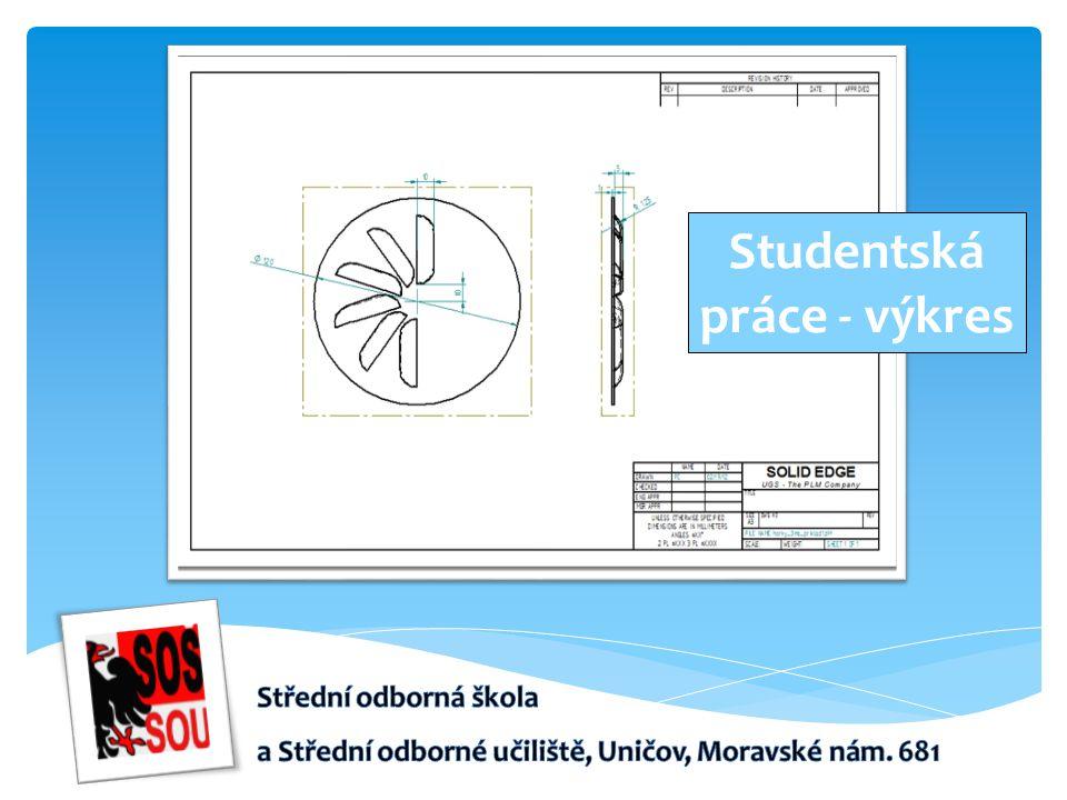 Studentská práce - výkres