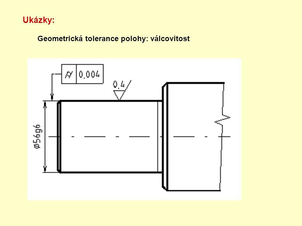 Ukázky: Geometrická tolerance polohy: válcovitost