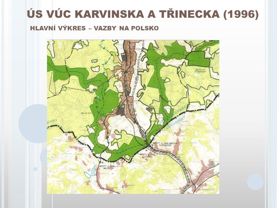 ÚS VÚC KARVINSKA A TŘINECKA (1996) HLAVNÍ VÝKRES – VAZBY NA POLSKO