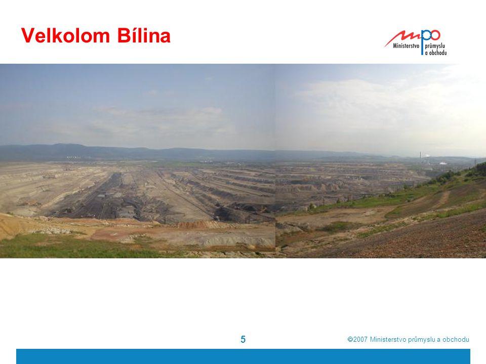  2007  Ministerstvo průmyslu a obchodu 16 Zemní plyn Objem těžby se pohybuje v rozmezí mezi 100 a 160 mil.