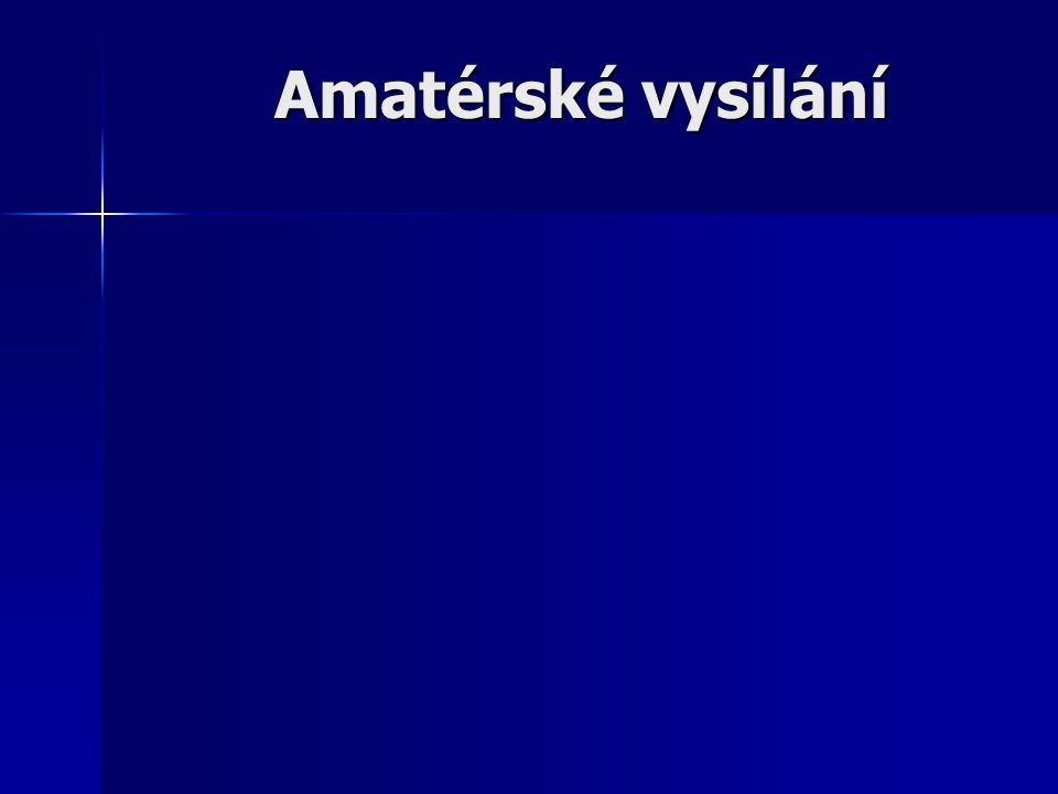 Amatérské vysílání