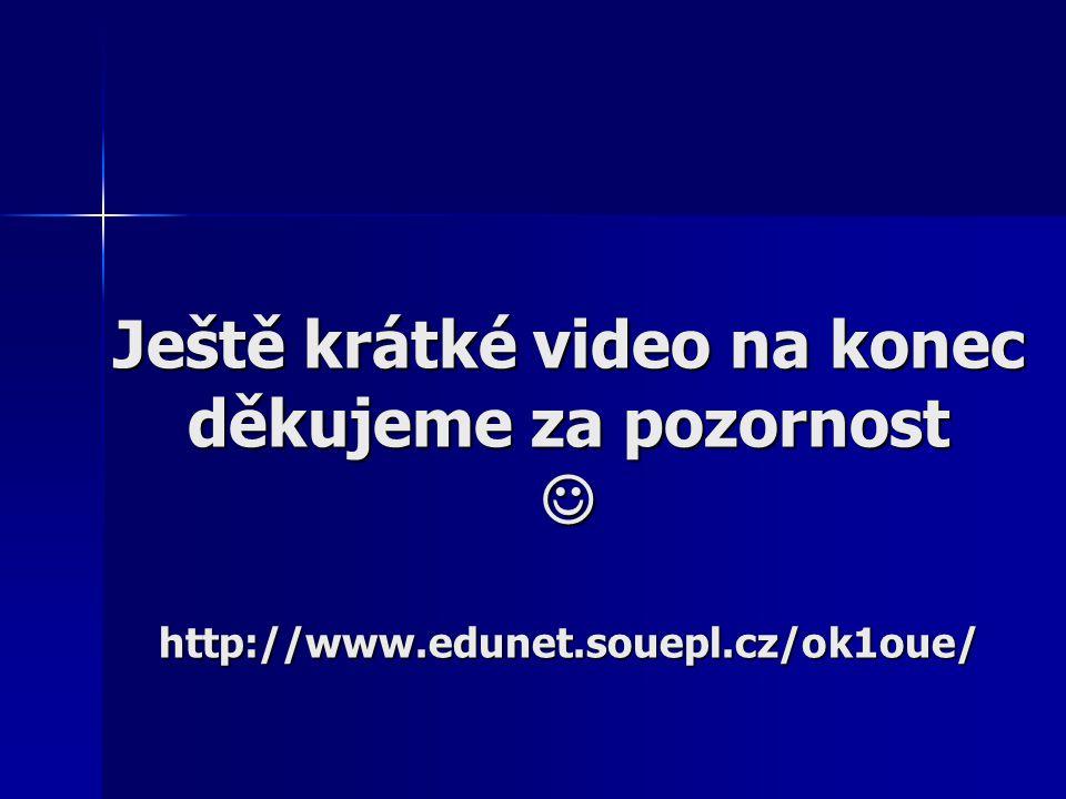 Ještě krátké video na konec děkujeme za pozornost http://www.edunet.souepl.cz/ok1oue/